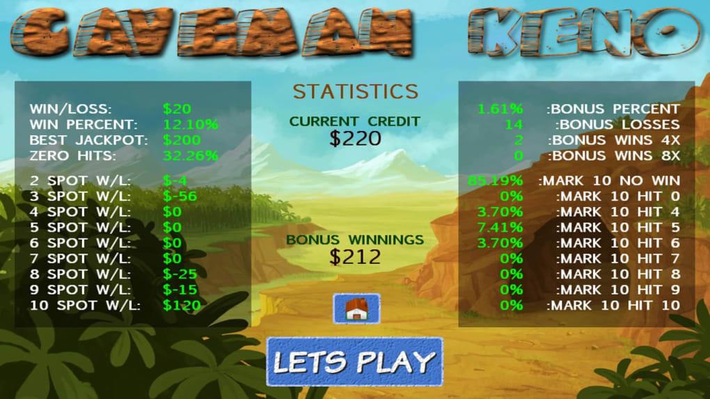Caveman Keno Real Money