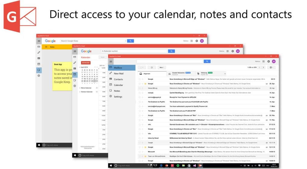 google calendar download windows 10