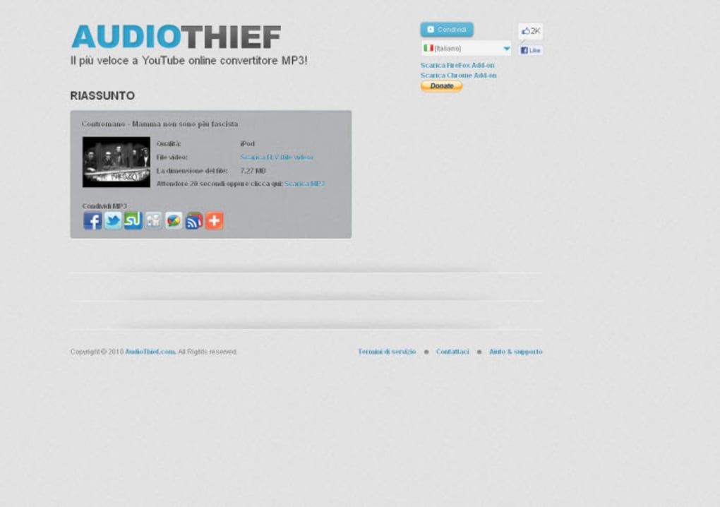 youtube - audiothief - convertitore mp3