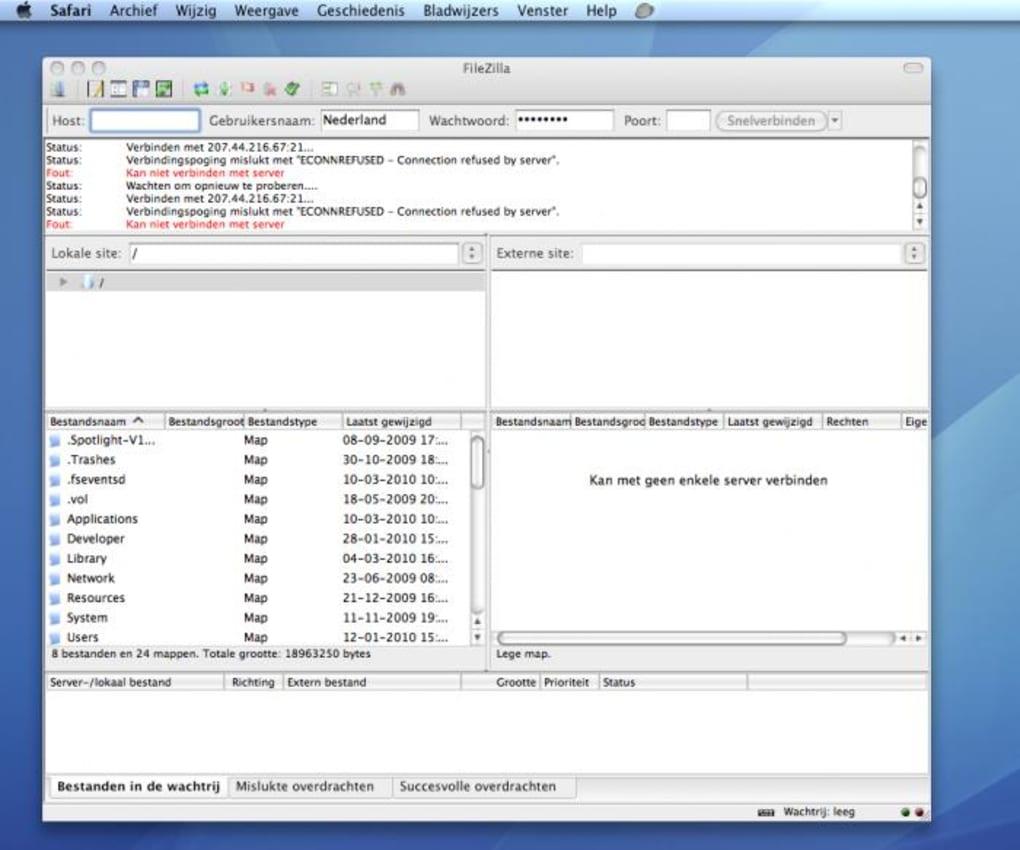 FileZilla voor Mac - Download