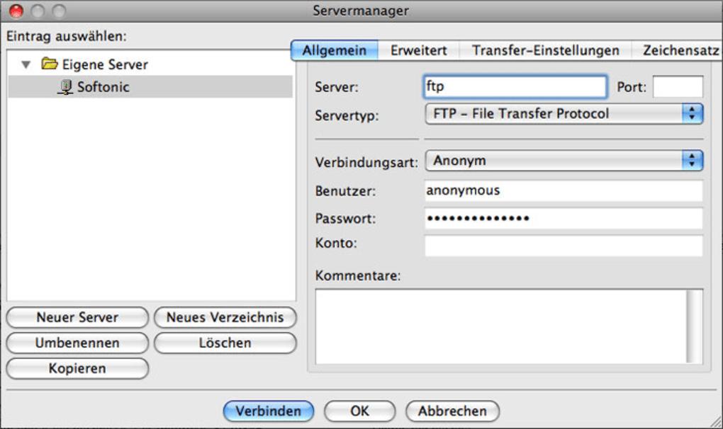 Filezilla free download mac os x
