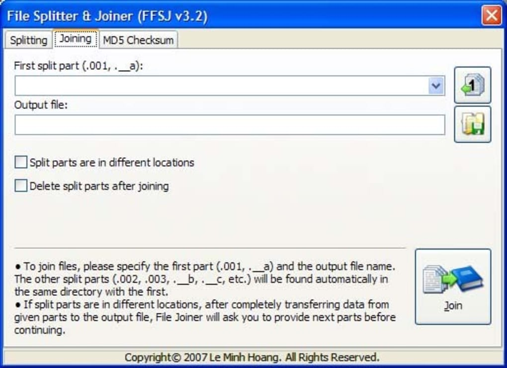 The Fastest File Splitter and Joiner - Download