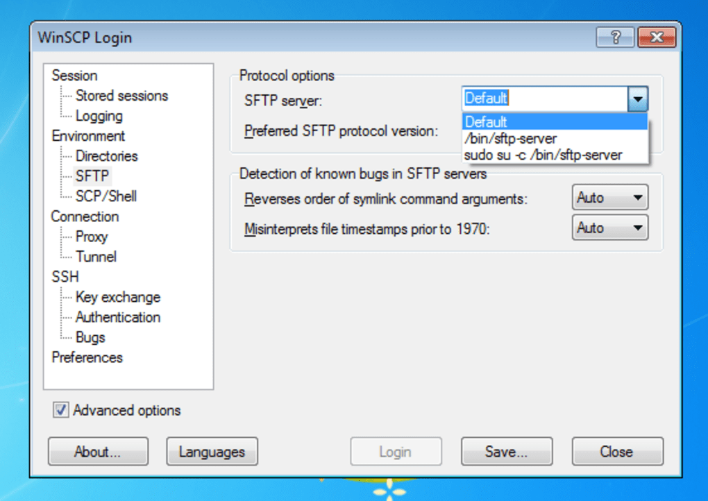 winscp windows 7 32 bits