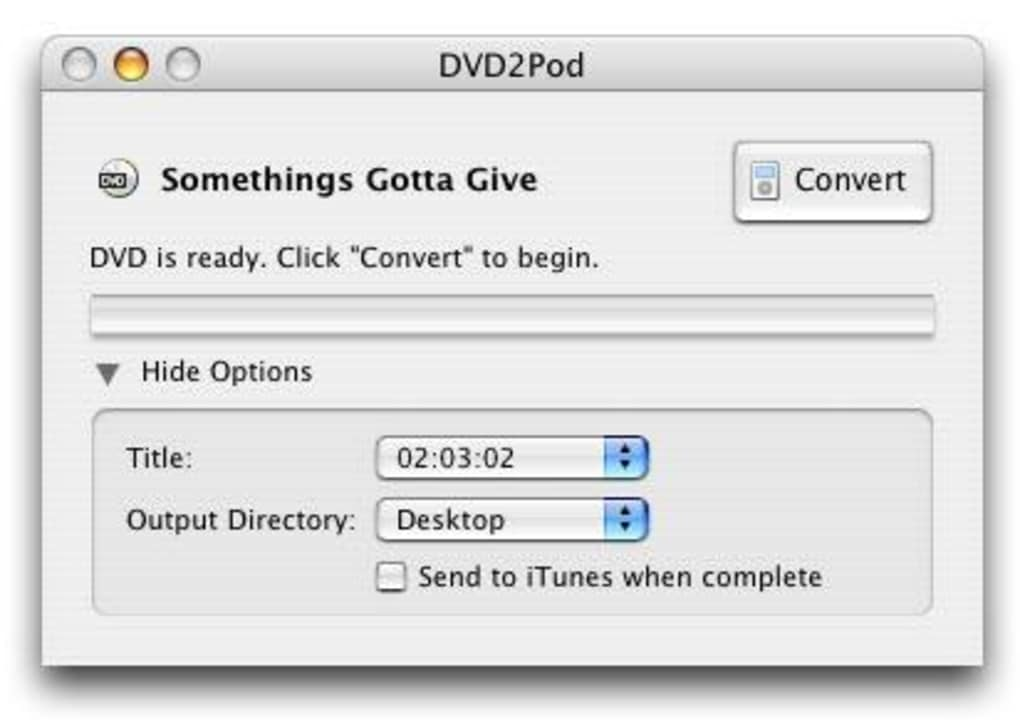 DVD2Pod for Mac - Download