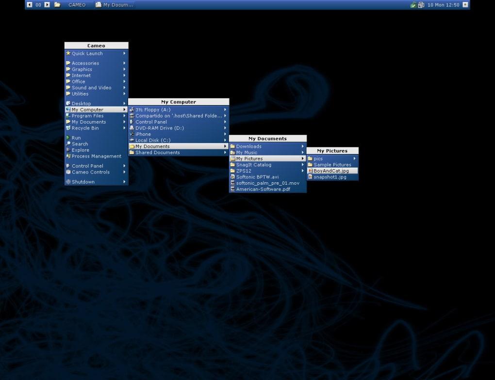 Emerge desktop alternate windows shell pen drive apps.