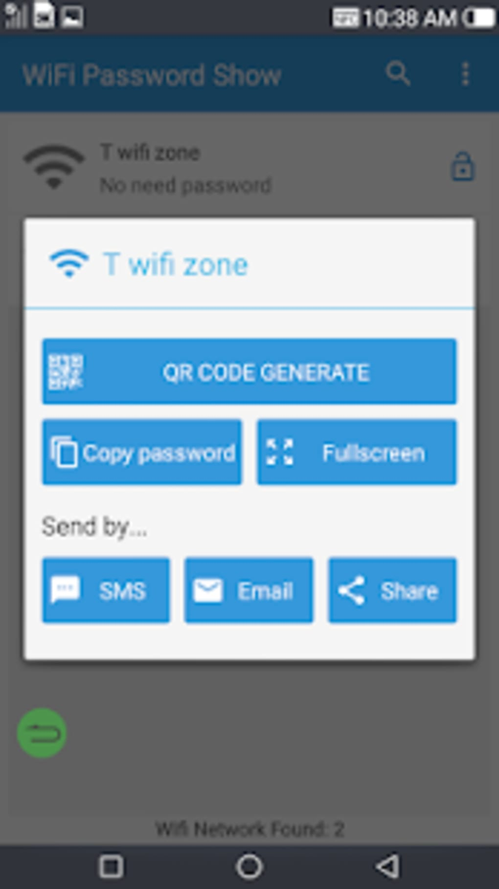 android wifi show password