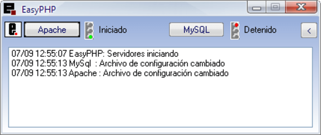 easyphp pour windows 2003 server
