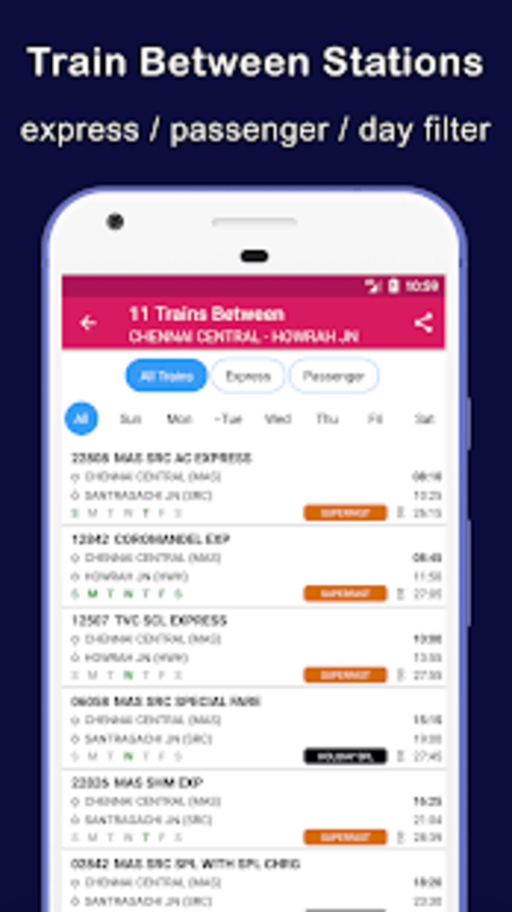 Indian Railway Train Status for Android - Download