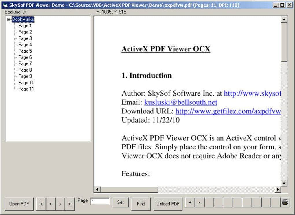 ActiveX PDF Viewer - Download