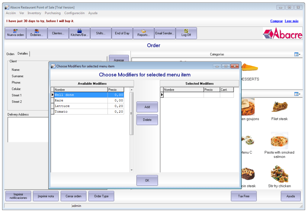 Abacre Restaurant Point of Sale 12.0 - Descargar