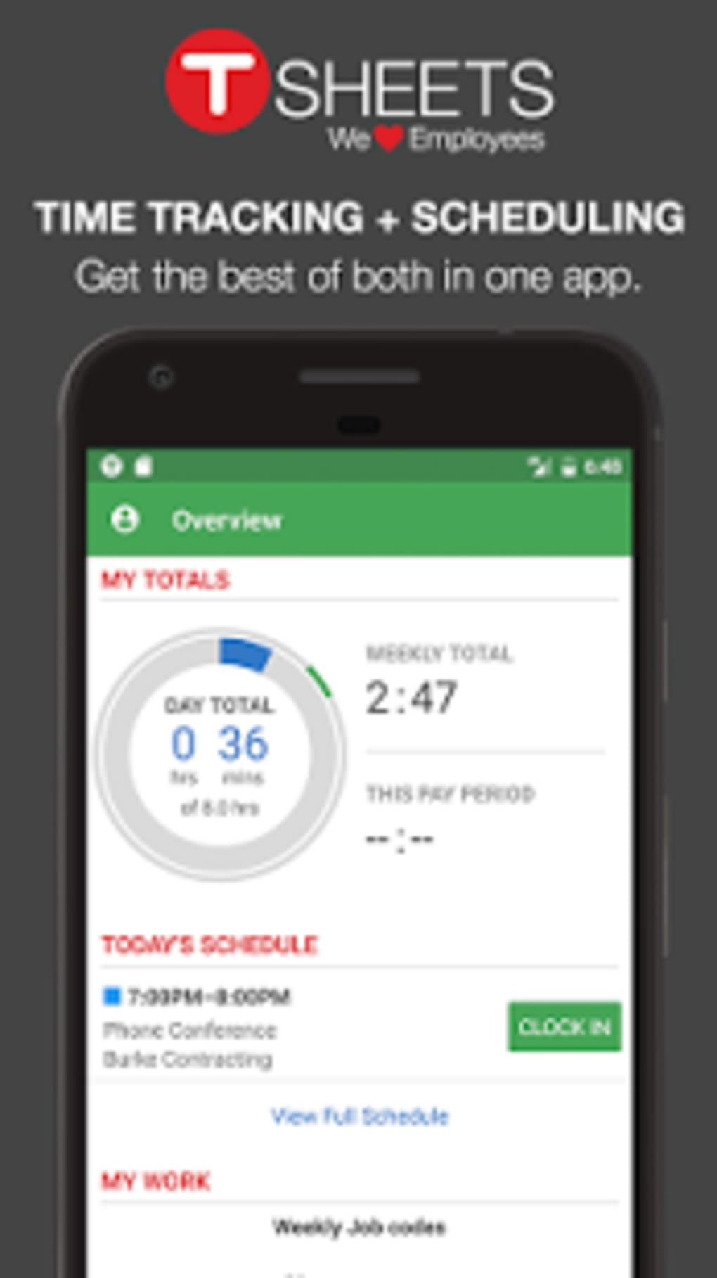 TSheets Time Tracker for Android - Download