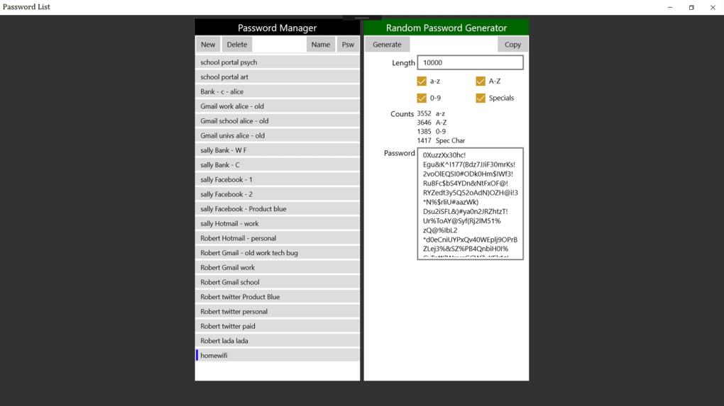 Password List - Download
