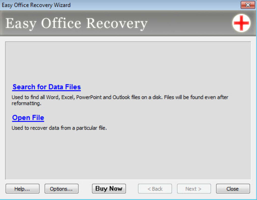 office recovery files location