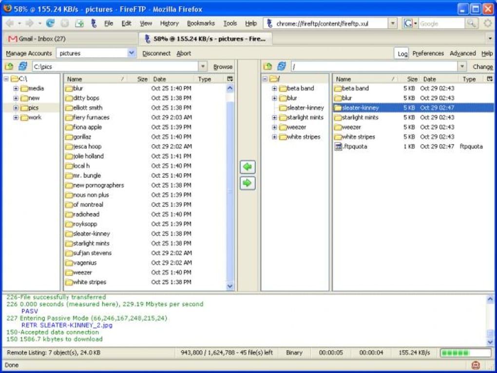 FireFTP - Télécharger