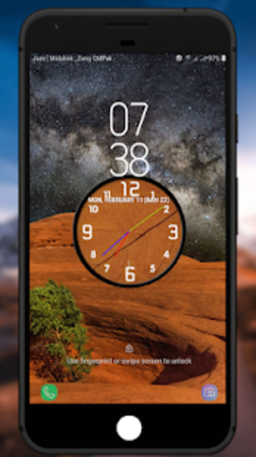 Analog Night Clock Live Wallpaper for Android - Download