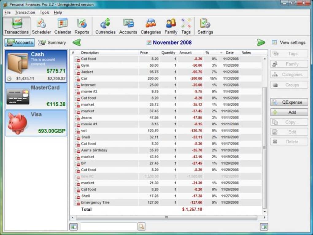Personal Finances Descargar