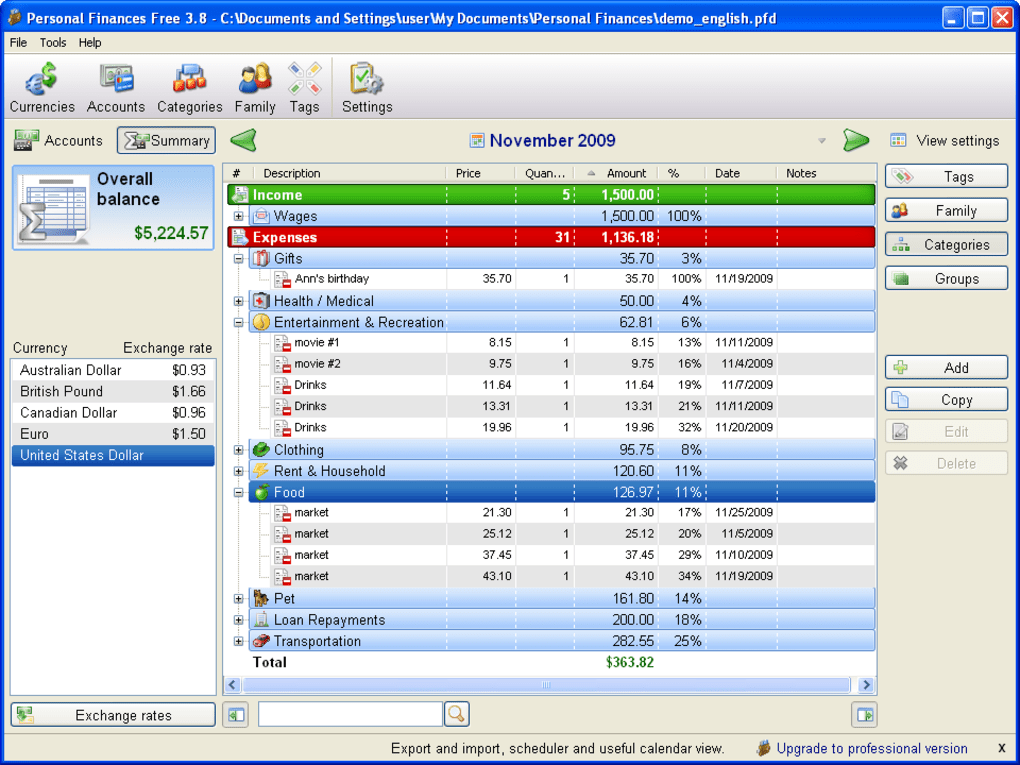 personal finances download