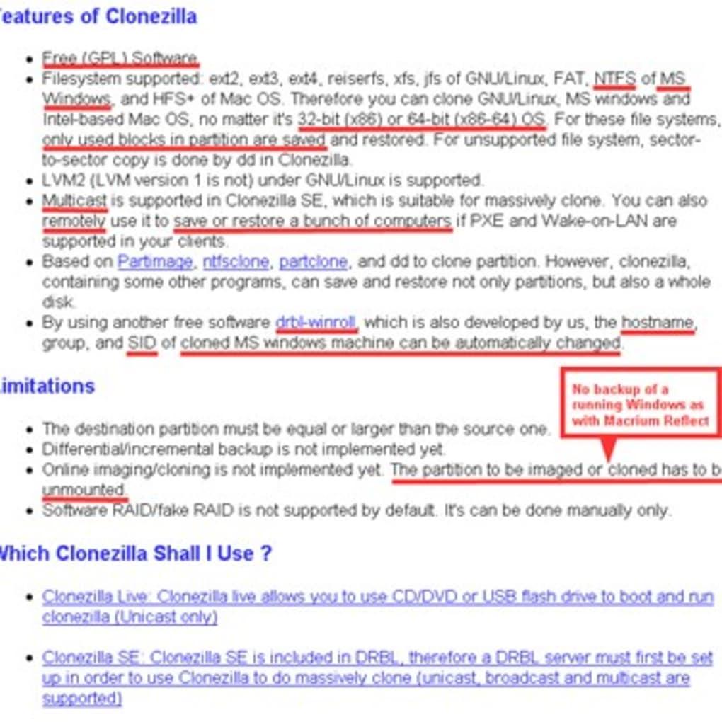 Clonezilla - Download