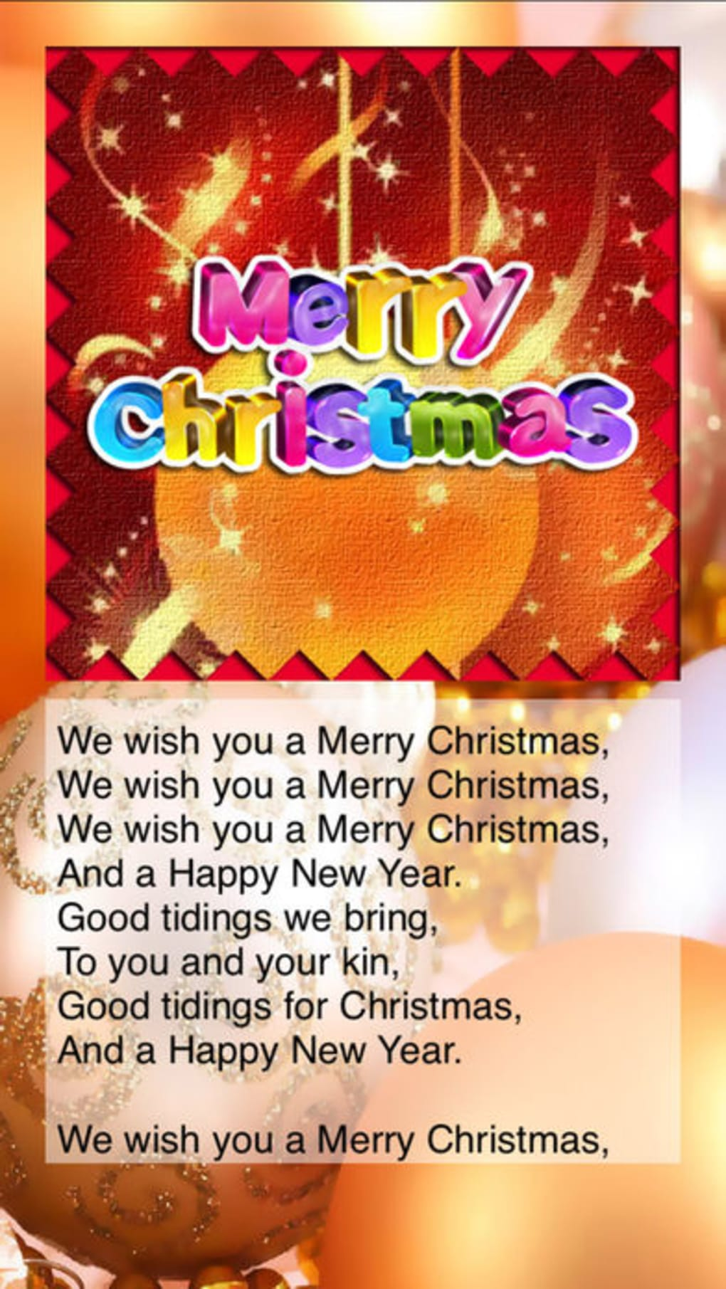 Christmas Songs - X\'mas Kids Songs with Lyrics for iPhone - Download