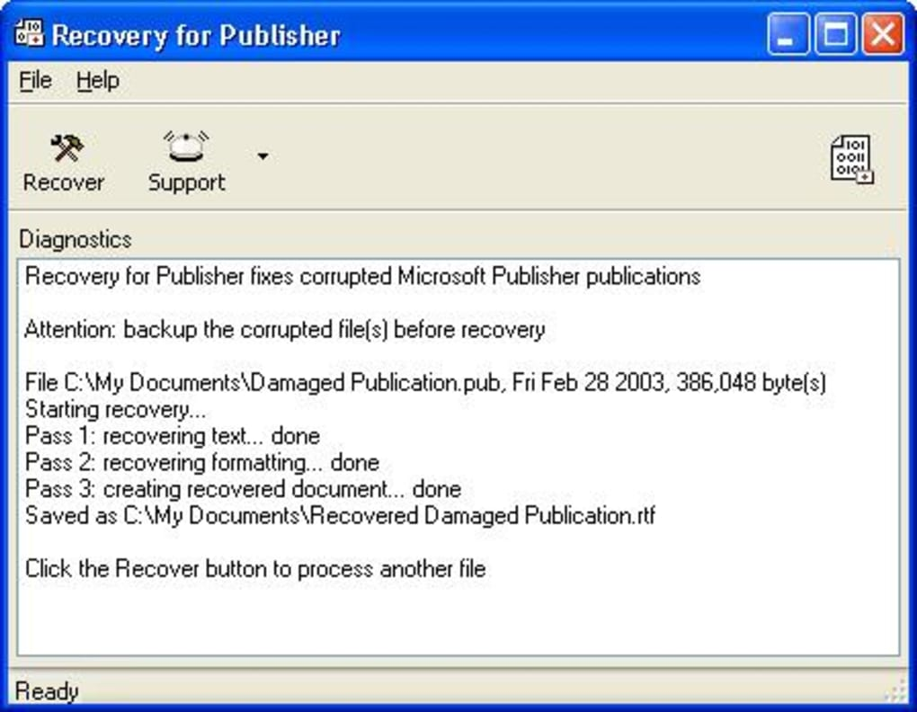 Recovery for Publisher - Download