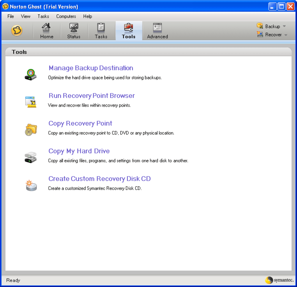 free norton ghost software for windows xp