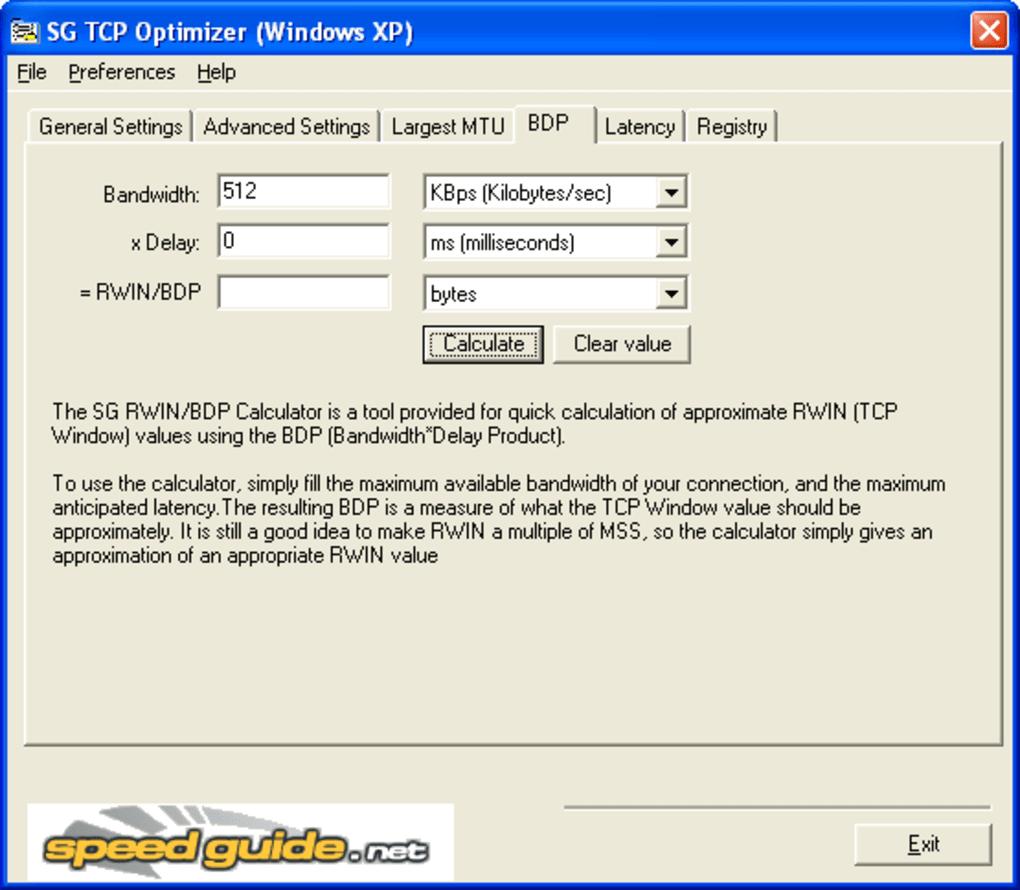 SG TCP Optimizer - Download