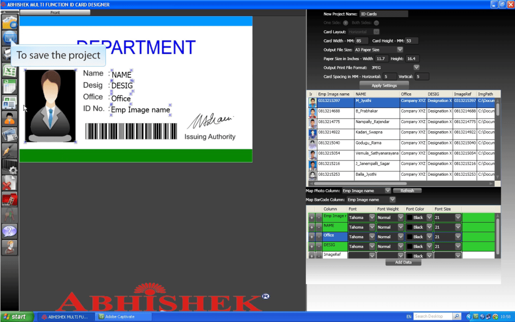 Abhishek Multi Function ID Card Designer - Download