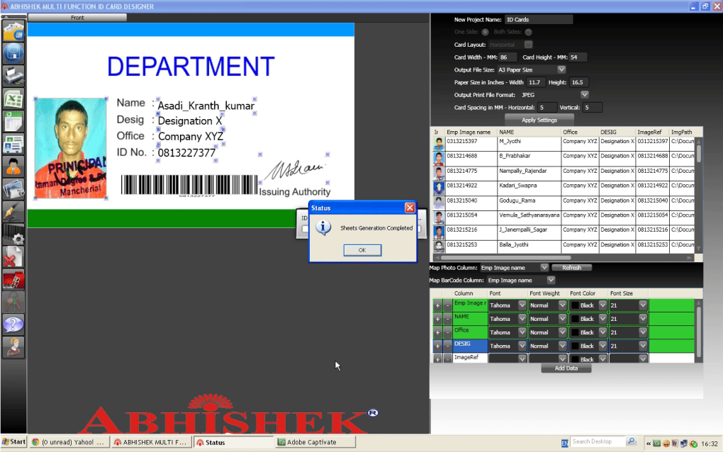Abhishek Multi Function ID Card Designer - Download