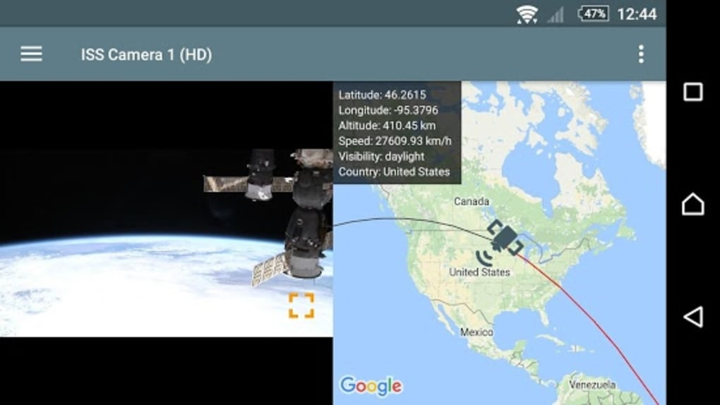 ISS Live - HD Earth viewing for Android - Download