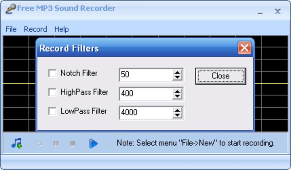 Free MP3 Sound Recorder - Download