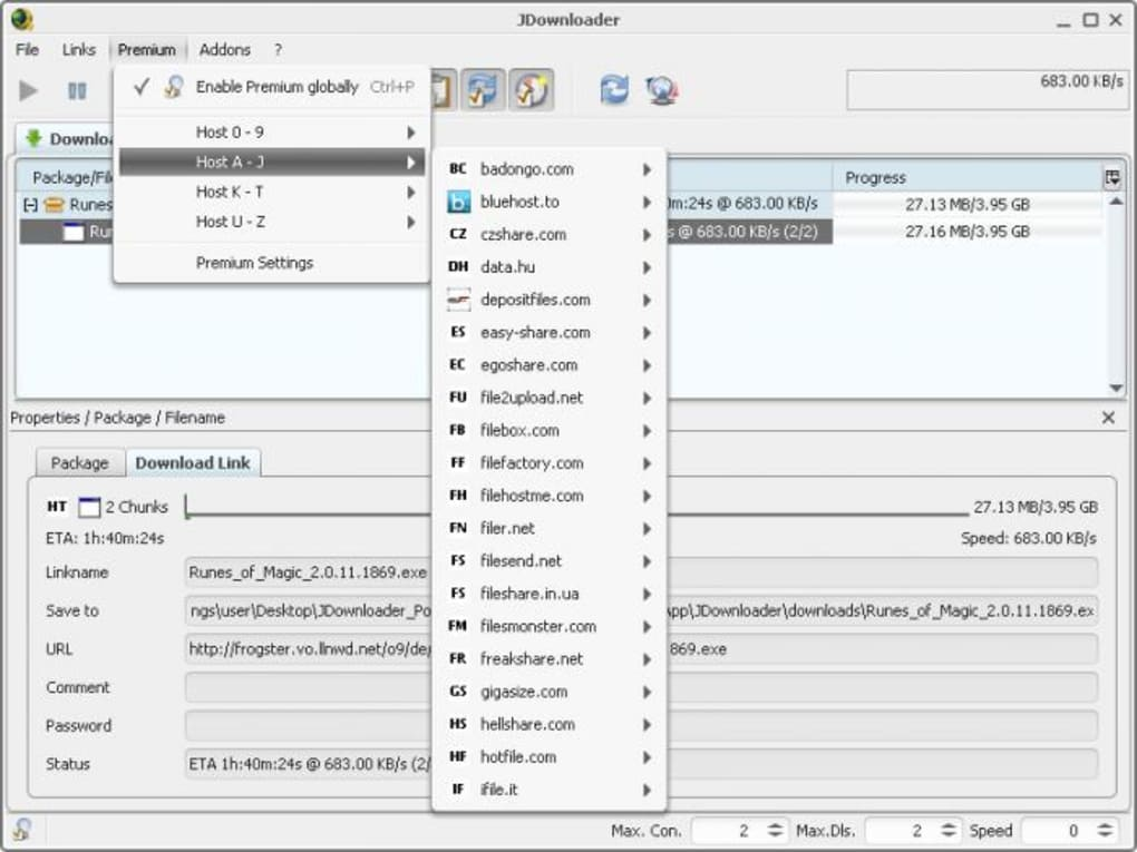 jdownloader 2 portable mega