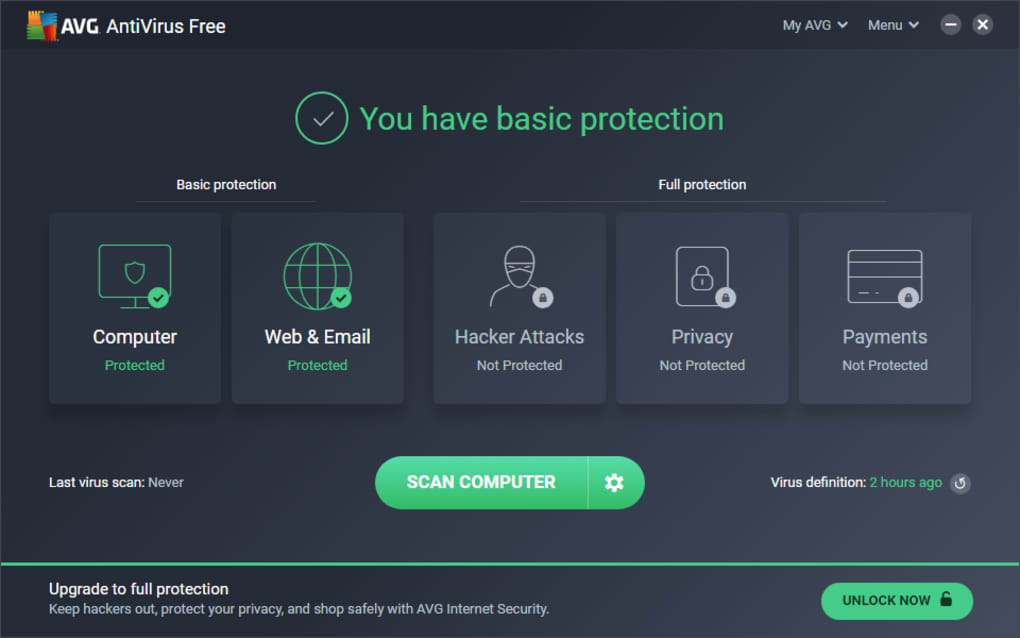 avg antivirus in italiano