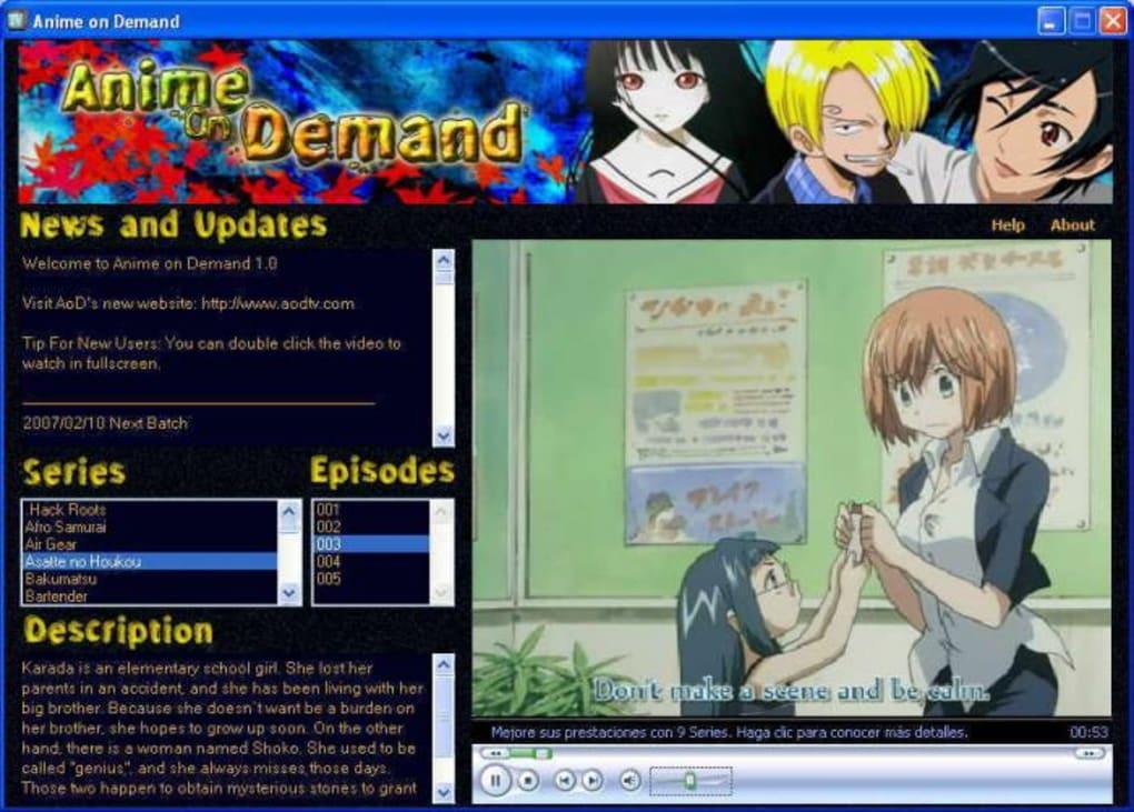 anime on demand app