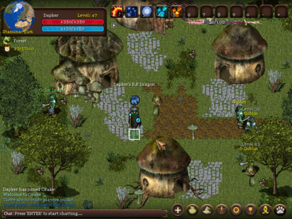 Orake 2D MMORPG. 1/3 Screenshots