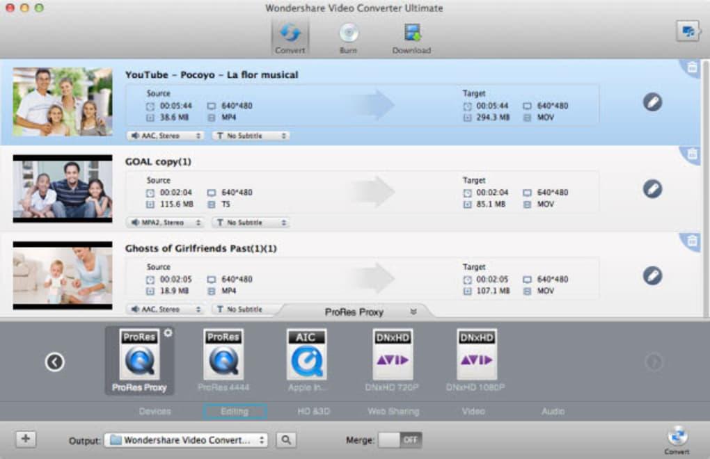 wondershare video converter mac os x serial