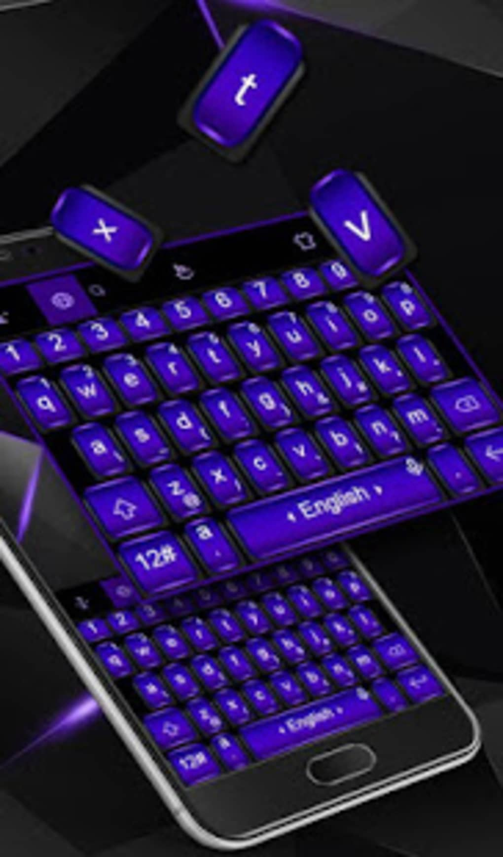 cool black purple keyboard theme for android download