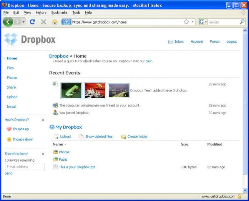 download free dropbox for windows 7 pc