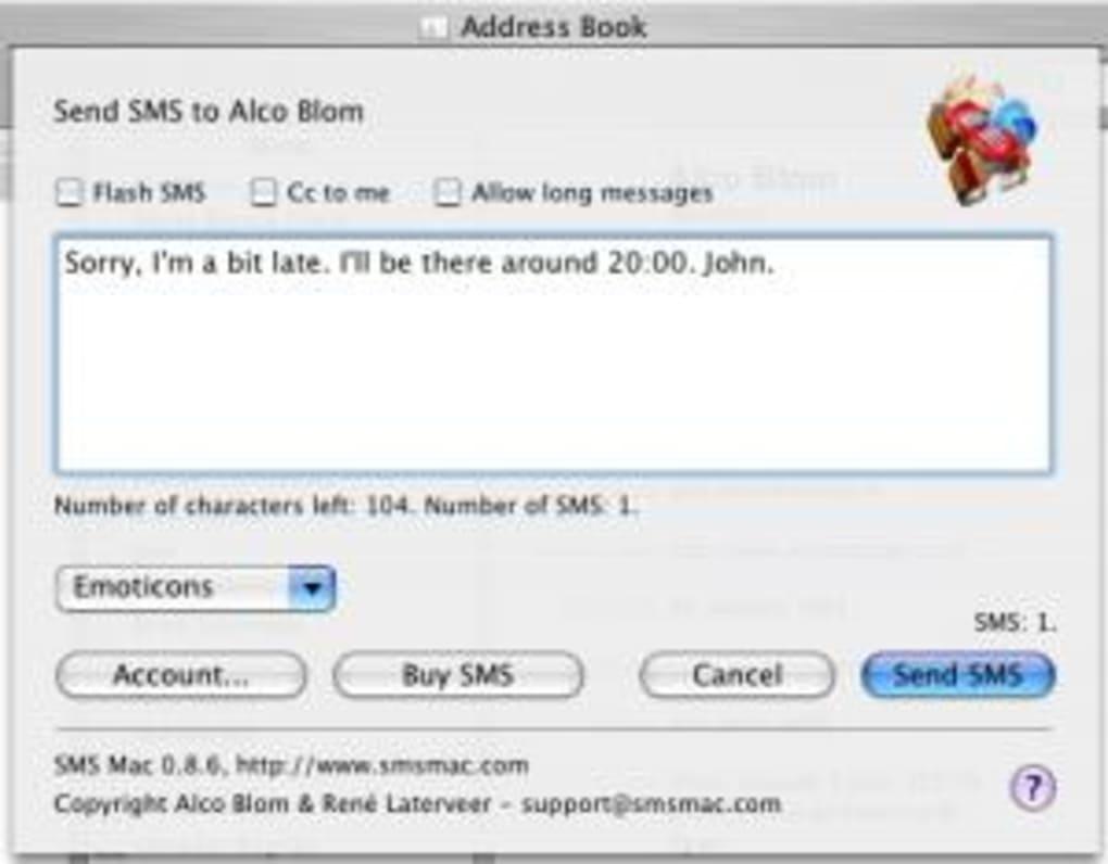 sms auf mac lesen