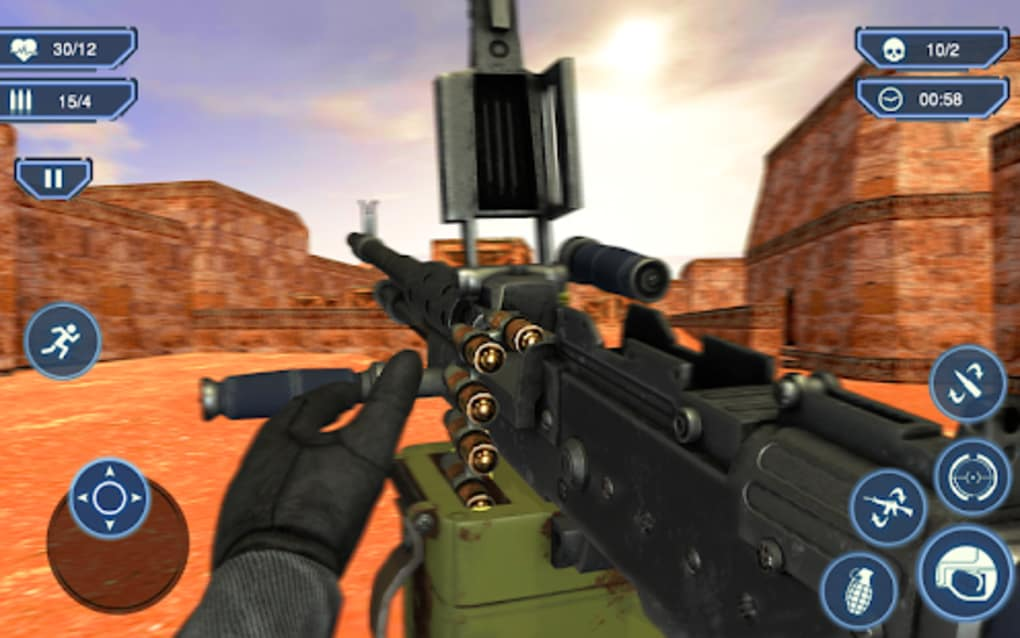 Army counter terrorist attack sniper strike shoot for android.