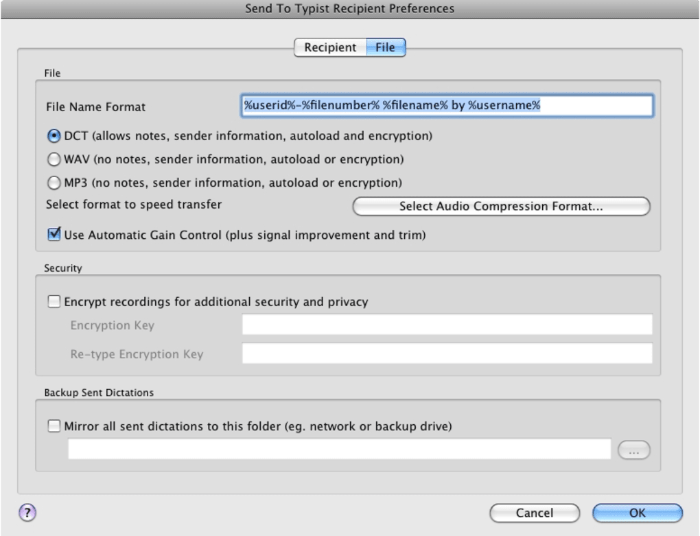 Express Dictate for Mac