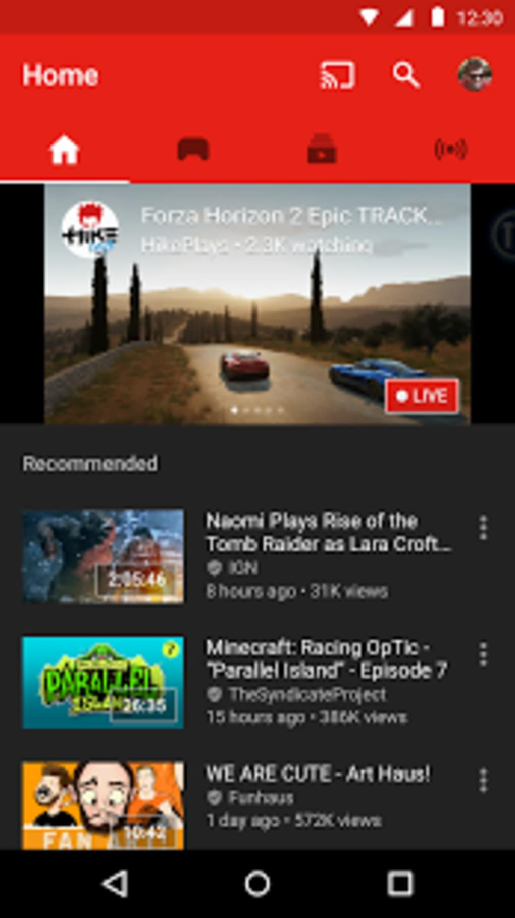 YouTube Gaming for Android - Download