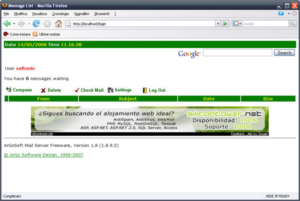 argosoft mail server 1.8.9.2