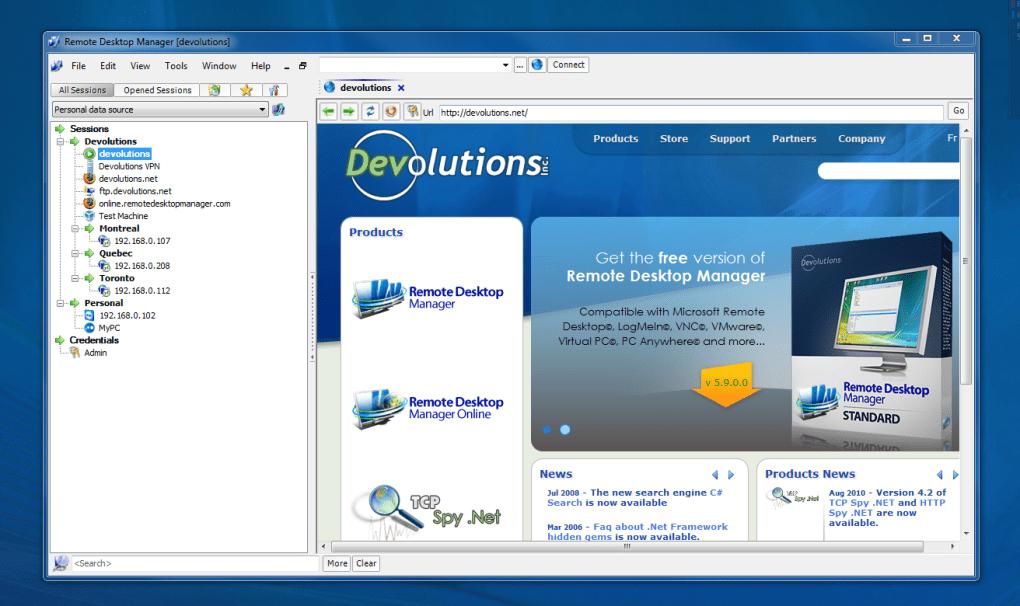 Remote Desktop Manager - Download