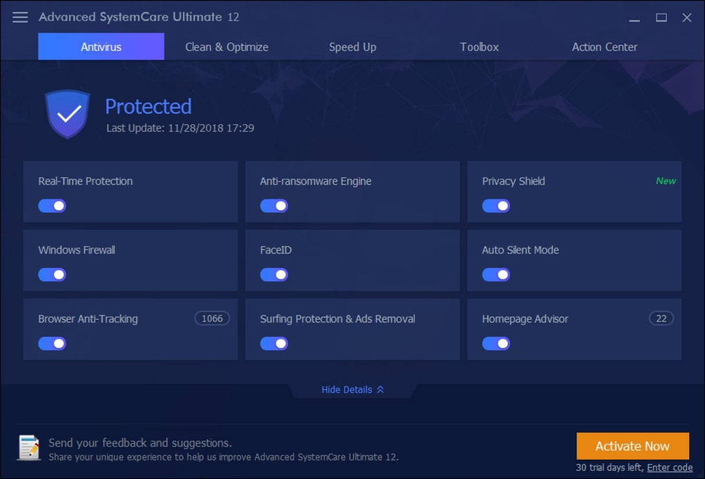 download free advanced systemcare ultimate 10