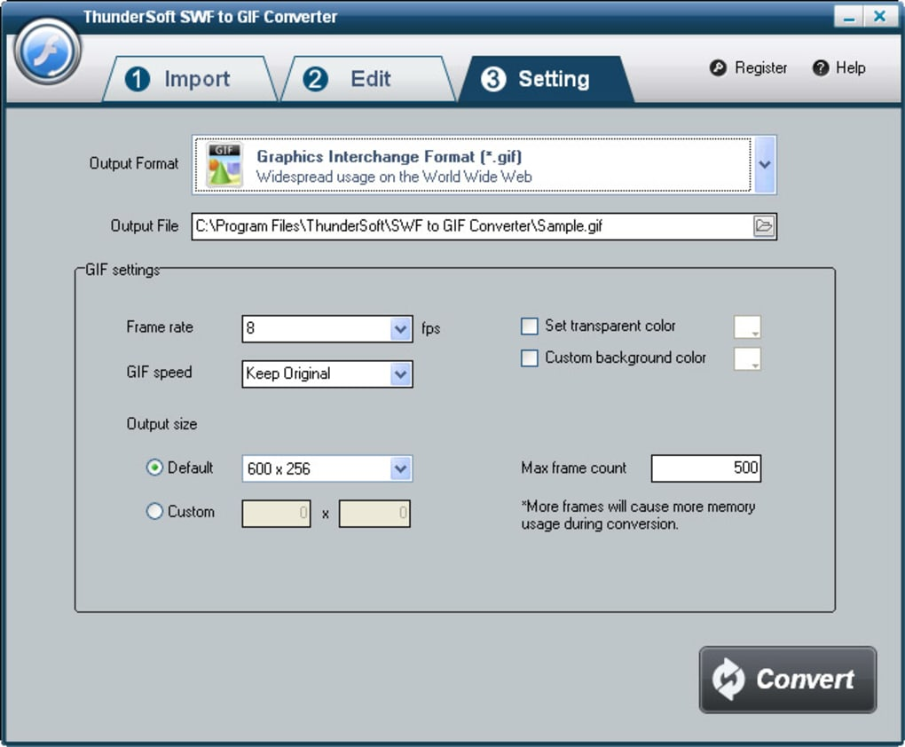 ThunderSoft SWF to GIF Converter - Download
