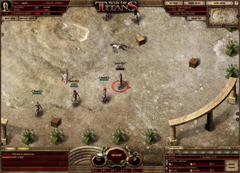 Gladiator Online Game
