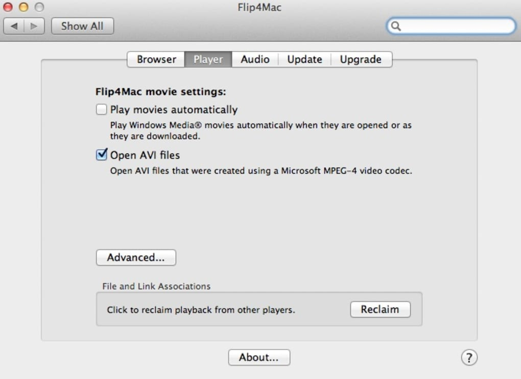 Microsoft endorsed WMV player for Mac