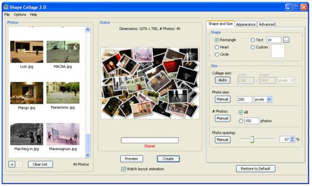 Shape Collage - Descargar