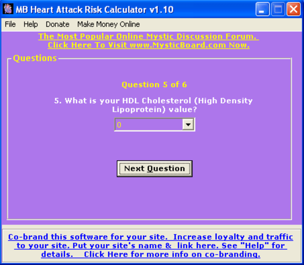 Mb Heart Risk Calculator