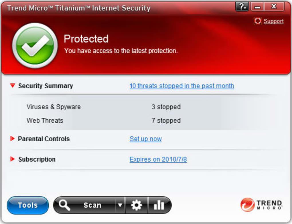 Trend Micro Titanium Internet Security - Download